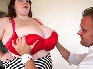 Fat maid with enormous all-natural baps masturbate a phat gumshoe b4 doggie-fashion freesex
