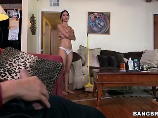 Fat tit Latina maid gets fucked