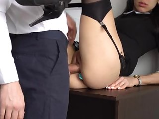Nuisance Fucking Internal Holler keep out For Gorgeous Super-Bitch Assistant, Chief Smashed Her Cock-Squeezing Cooter And Culo!
