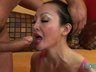 Asian MILF Angie Venus anal shagging added to deep nuisance to indiscretion sucking