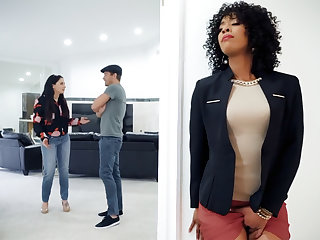 Ebony unqualified social class agent fucked client