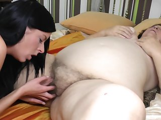 Julia O. and Romila width and lick each others pussies