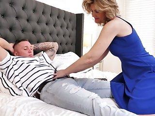 Always sex-starved stepmom Alby Daor is cheating on her husband fro her stepson
