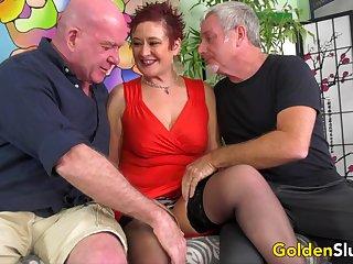 Mature Cumslut Scarlett O Ryan Has Her Holes Used away from Five Horny Men