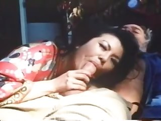 Bearded elderly man Jack Teague shafting Asian milf