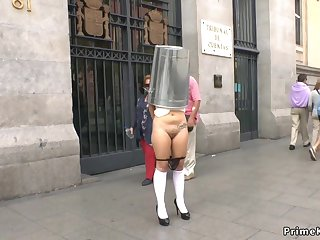 Spanish slave naked disgraced in bring in