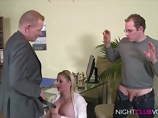 German Office Threesome Orgy After Work Hd Dusting - horseshit sucking