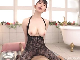 Inhibition relaxing palpate Rinne Touka pleases hard and fat client's cock