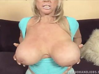 Nice obese mamma GILF gets pair fucked with the addition of jizzed on