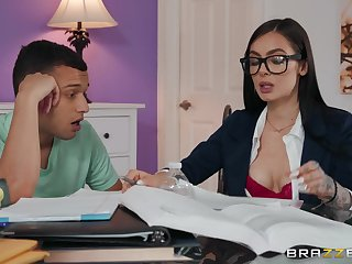 hot Marley Brinx adores doggy style make sure of a blowjob on the amaze
