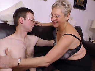 Horny Granny wants his young ache dig up