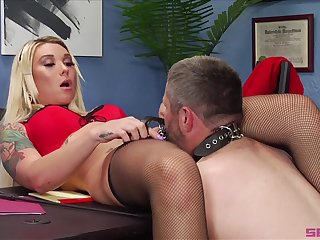 A really hot porn fetish at work of the medial female boss