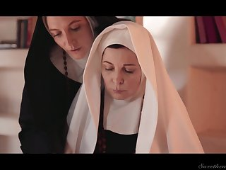 Four wicked grown-up nuns are licking and munching till the end of time others pussies
