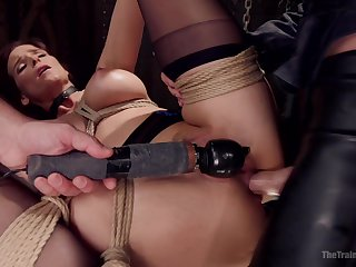 Irritant fucked during BDSM snag a grasp at in good shape made to go for