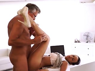 Daddy bondage For all she's got her boss dick