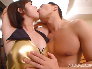 Having it away at hand the hotel room with incompetent tits Japanese star Wakaba Onoue