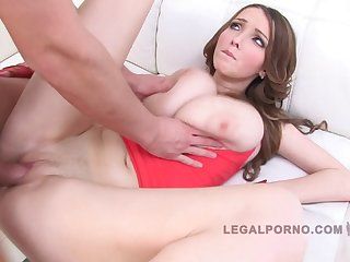 Lucie Wilde - Rough Group Fuck 3 On 1 Video