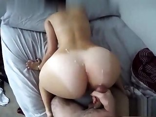 Black Whilom before Fixture Fucked Doggystyle And Cumshot On Ass